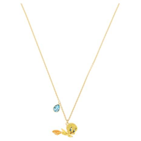 Looney Tunes Tweety Pendant, Multi-colored, Gold-tone plated - Swarovski, 5494374