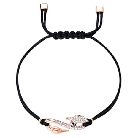 Bracelet Swarovski Power Collection Hook, noir, Métal doré rose - Swarovski, 5494383