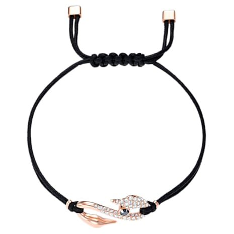 Pulsera Swarovski Power Collection Hook, negro, Baño en tono Oro Rosa - Swarovski, 5494383
