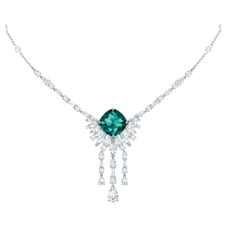 Palace Halskette, grün, Rhodiniert - Swarovski, 5498815