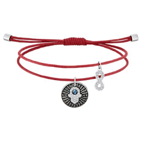Unisex Hamsa Hand Bracelet, Multi-colored, Stainless steel - Swarovski, 5504682