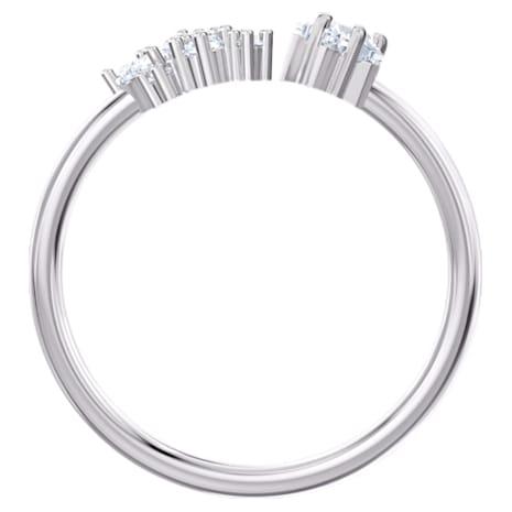 Penélope Cruz Moonsun Open Ring, White, Rhodium plated - Swarovski, 5508441