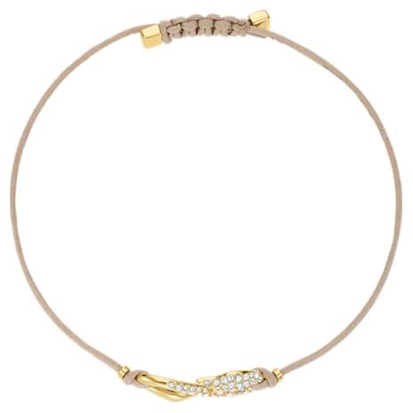 Swarovski Power Collection Hook Bracelet, Beige, Gold-tone plated - Swarovski, 5508527