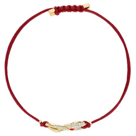 Pulsera Swarovski Power Collection Hook, rojo, Baño en tono Oro - Swarovski, 5508530