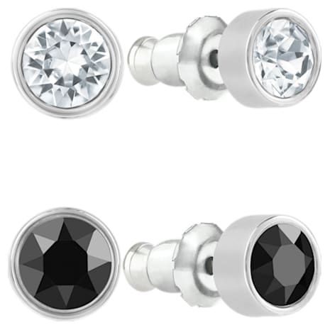 Harley Pierced Earring Set, Black, Ruthenium plated - Swarovski, 5528506