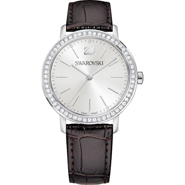 PielMarrónTono LadyCorrea Reloj Graceful De Plateado N80wPknOX