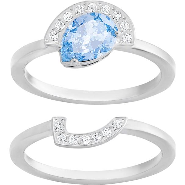 77cda5f1366d Gallery Pear Ring Set, Blue