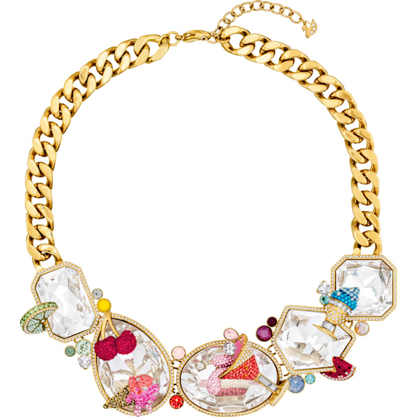 ac8a11f62db91 Optimum Necklace, Multi-colored, Gold-tone plated exclusively on ...
