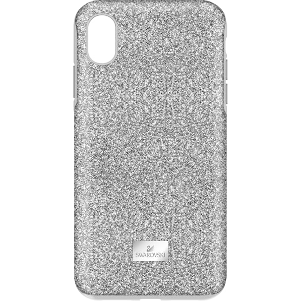 newest a1389 863f0 High Smartphone Case with Bumper, iPhone® XS Max, Silver tone