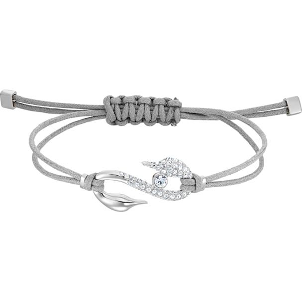 Swarovski Collection Hook Bracelet Gray Rhodium Plated