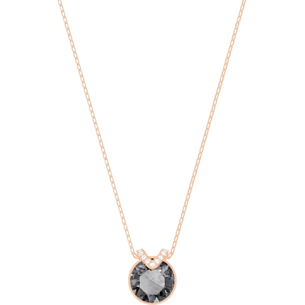 3022ee877cc63 Bella V Pendant, Grey, Rose-gold tone plated