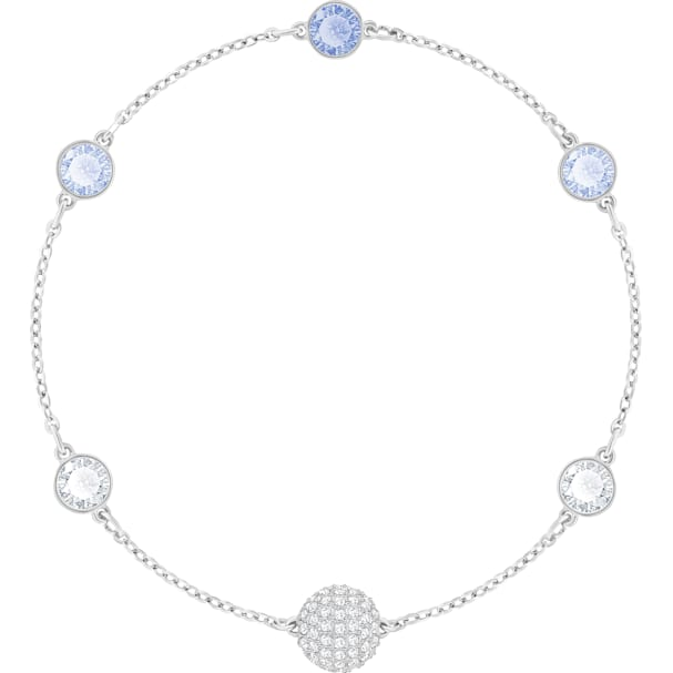 c324e4a5d3c62 Swarovski Remix Collection Timeless Strand, Blue, Rhodium plated