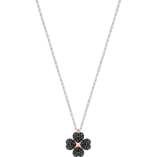 d7e5698d070b8 Latisha Flower Pendant, Black, Mixed metal finish