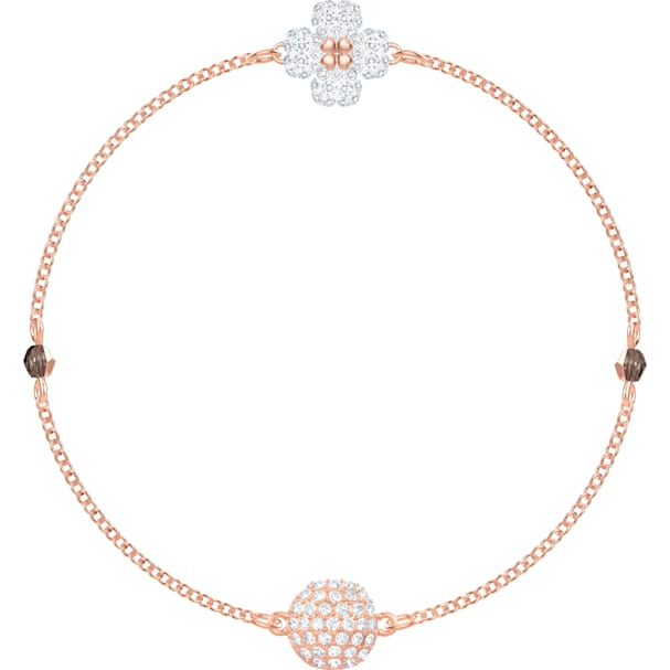 061452f1768d7 Swarovski Remix Collection Clover Strand, White, Rose-gold tone plated