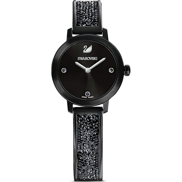ba82f552739a1 Cosmic Rock Watch, Metal bracelet, Black, Black PVD   Swarovski.com