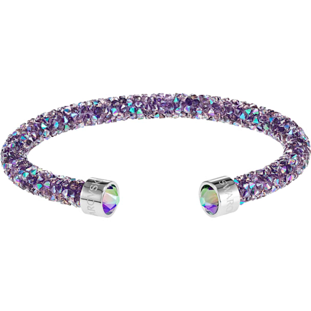d9e439334f599 Crystaldust Cuff, Purple, Stainless steel
