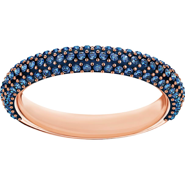 7e0abc420fedc Stone Ring, Blue, Rose-gold tone plated
