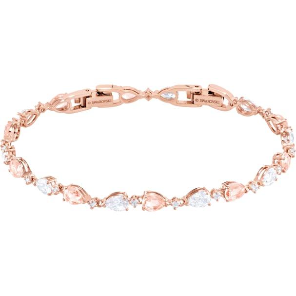7ca1ff894aa81 Vintage Bracelet, Pink, Rose-gold tone plated