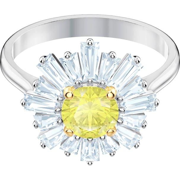 18c0aaa67c580 Sunshine Ring, Yellow, Rhodium plated