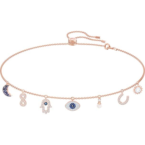 89475aaa27450 Swarovski Symbolic Necklace, Multi-colored, Rose-gold tone plated