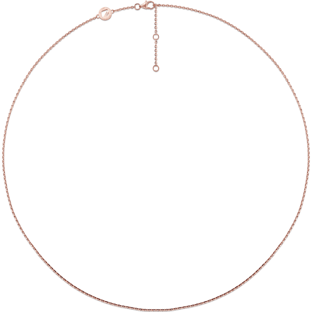 18K玫瑰黃金项链 - Swarovski, 5090062