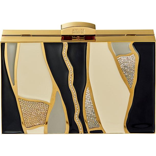 Gilded Treasures Bag, Dark multi-coloured, Gold-tone plated - Swarovski, 5534857