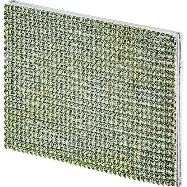 Portacarte Marina, verde, placcato palladio - Swarovski, 5535439