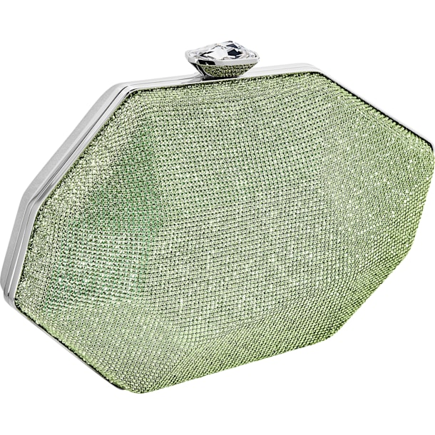 Marina Bag, Green, Palladium plated - Swarovski, 5535448