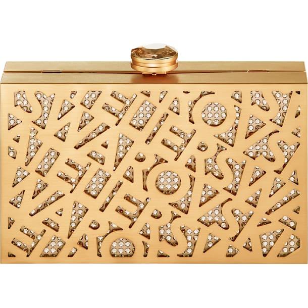Logo Lace Bag, Gold tone, Gold-tone plated - Swarovski, 5535911
