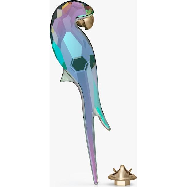 Jungle Beats Parrot Magnet, Shiny Green, Large - Swarovski, 5572152