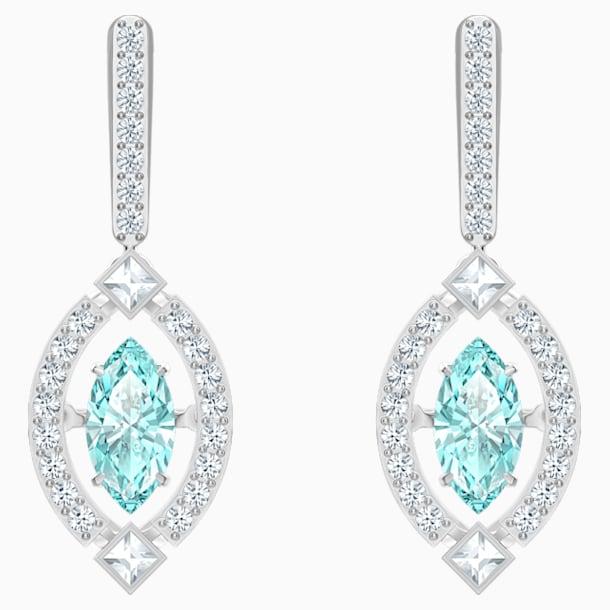 스와로브스키 귀걸이 Swarovski Sparkling Dance Pierced Earrings, Green, Rhodium plated