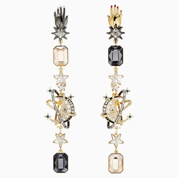 스와로브스키 귀걸이 Swarovski Chromancy Clip Earrings, Multi-colored, Mixed metal finish