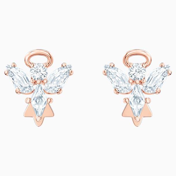 스와로브스키 귀걸이 Swarovski Magic Angel Stud Pierced Earrings, White, Rose-gold tone plated