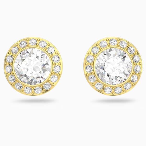 스와로브스키 귀걸이 Swarovski Angelic Stud Pierced Earrings, White, Gold-tone plated