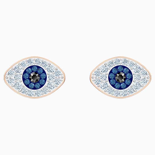 스와로브스키 귀걸이 Swarovski Symbolic Stud Pierced Earrings, Blue, Rose-gold tone plated