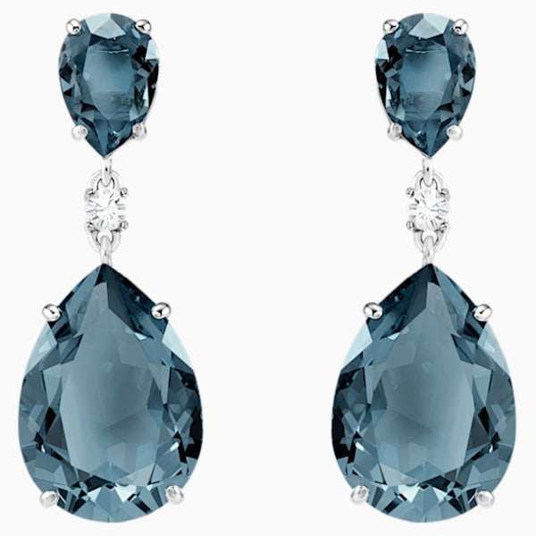 The V Collection earrings yellow gold plated rhodium plated marquise shape fashion jewelry dangling earrings