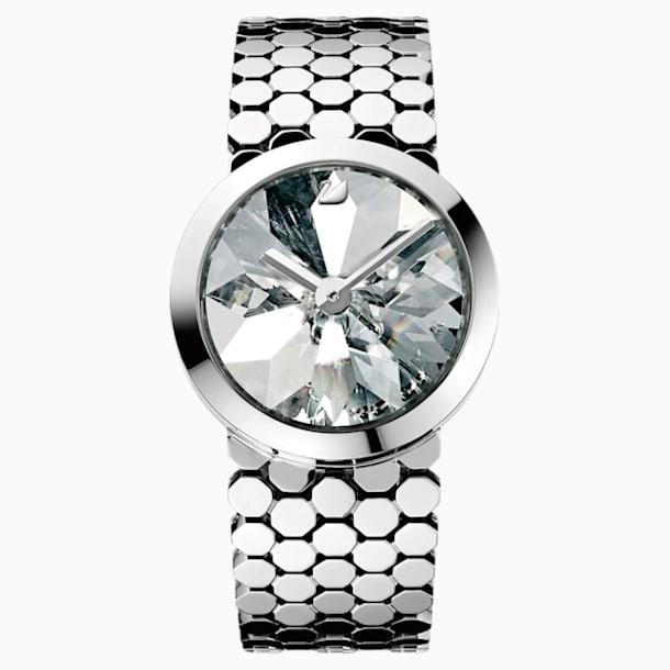 Lake of Shimmer Watch, Metal bracelet, Silver tone - Swarovski, 1124143