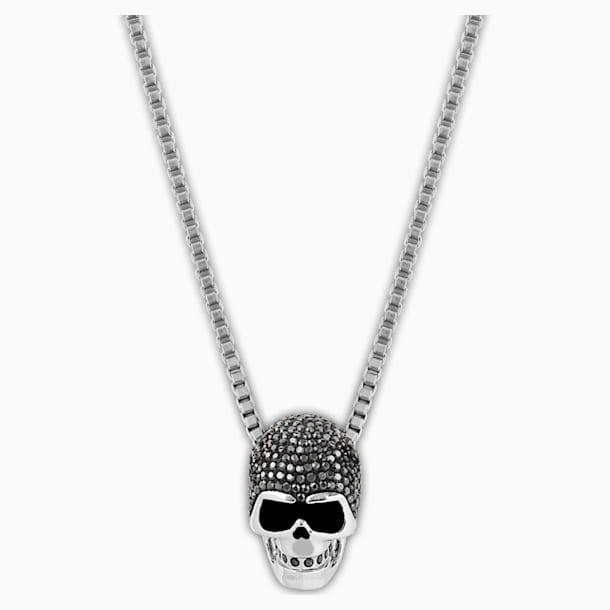 Taddeo Skull Kolye Ucu, Siyah, Karışık metal bitiş - Swarovski, 1180839