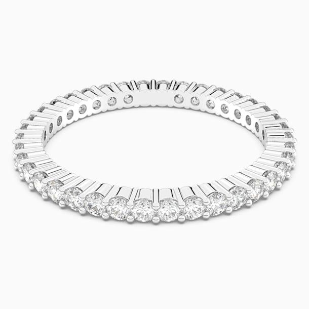 Δαχτυλίδι Vittore, λευκό, επιροδιωμένο - Swarovski, 5007780