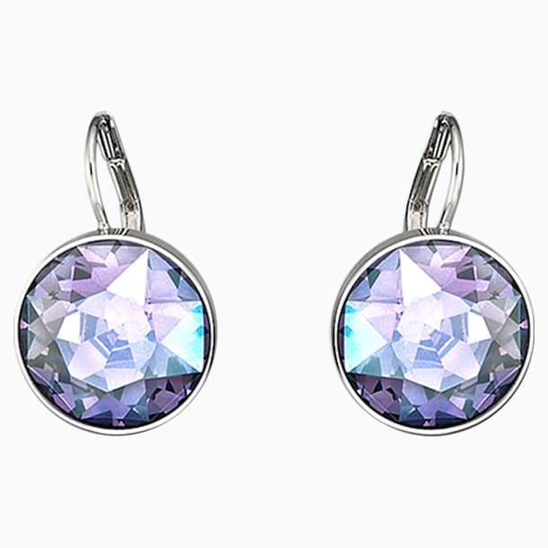 Bella 穿孔耳環, 紫色, 鍍白金色 - Swarovski, 5030703