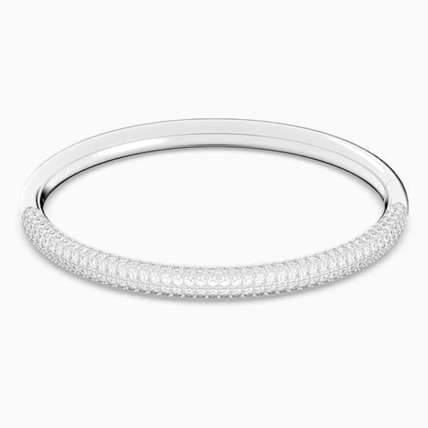 Bracelet-jonc Stone, blanc, acier inoxydable - Swarovski, 5032846