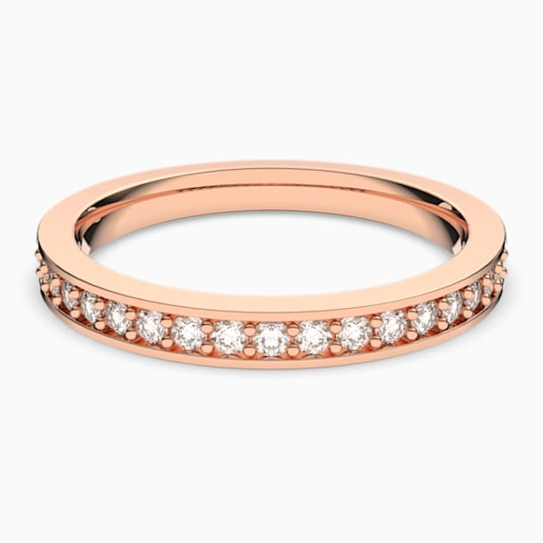 Prsten Rare, bílý, pozlacený růžovým zlatem - Swarovski, 5032901