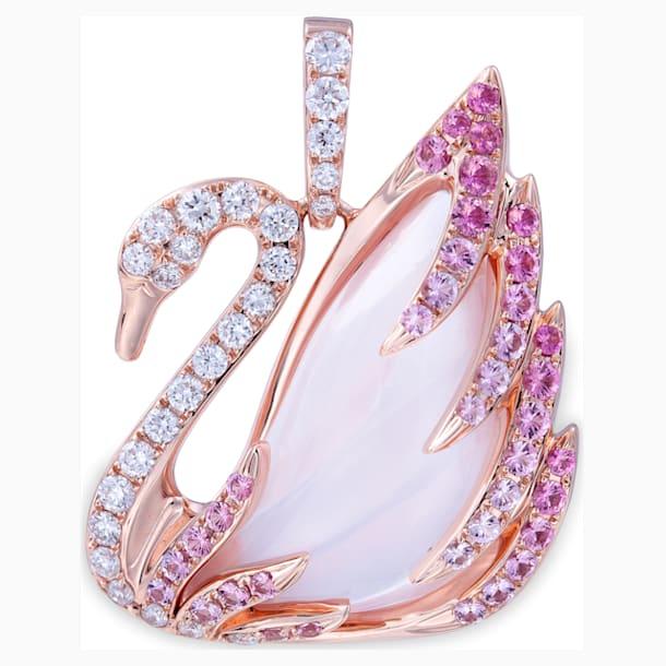 瑰丽天鹅18K玫瑰金芙蓉石粉紅蓝宝石钻石链坠 - Swarovski, 5036320