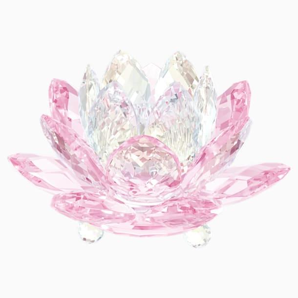 Waterlelie Kandelaar, roze - Swarovski, 5066010