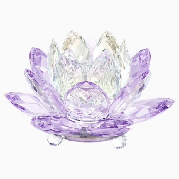 Waterlelie Kandelaar, violet - Swarovski, 5066011