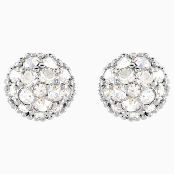 Boucles d'oreilles Euphoria, blanc, Métal rhodié - Swarovski, 5073039