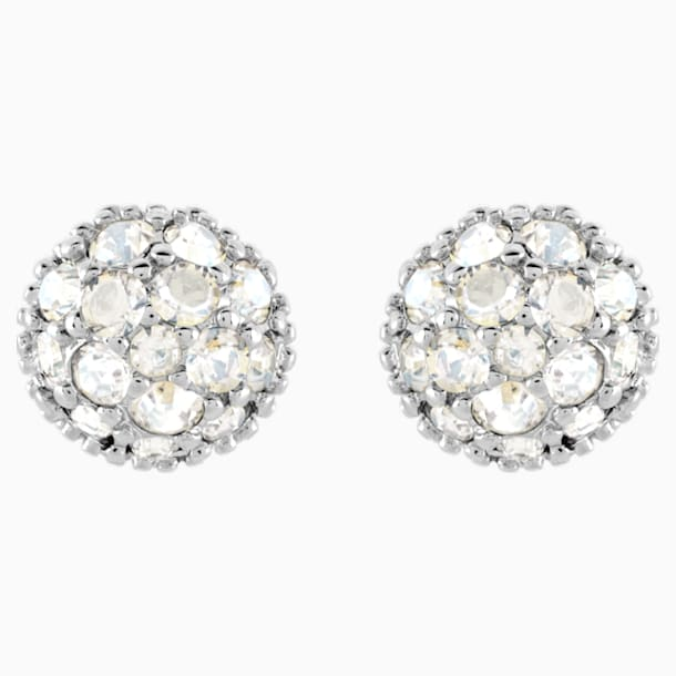 Euphoria 穿孔耳环, 白色, 镀铑 - Swarovski, 5073039