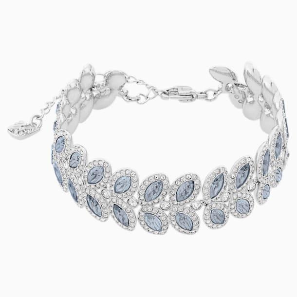 Baron Bracelet, Blue, Rhodium plated - Swarovski, 5074352