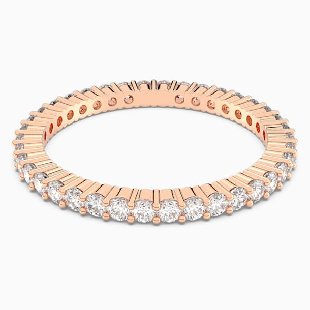 Vittore Ring, White, Rose-gold tone plated - Swarovski, 5095327