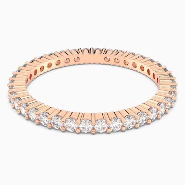 Δαχτυλίδι Vittore, λευκό, επιχρυσωμένο σε χρυσή ροζ απόχρωση - Swarovski, 5095329